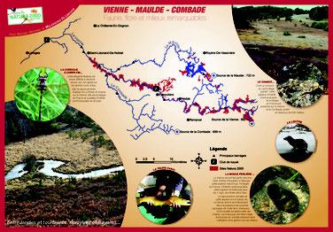 Plaquette loisir en rivières réalisée pour le PNR Millevaches