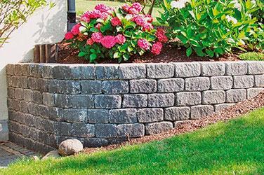 SeccoBruchstein Gartenmauer