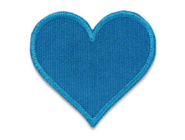 Cord Flicken Hosenflicken Applikation Herz petrol Patch zum aufbügeln