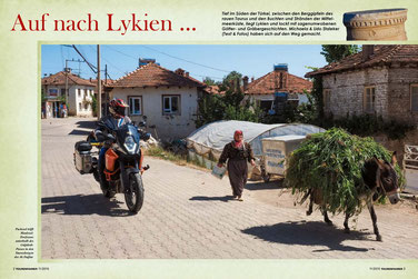 """Türkei-Reportage """"Auf nach Lykien"""" / TF-Ausgabe 11-2015 -- Motiv: Dorfszene im Taurus-Gebirge"""