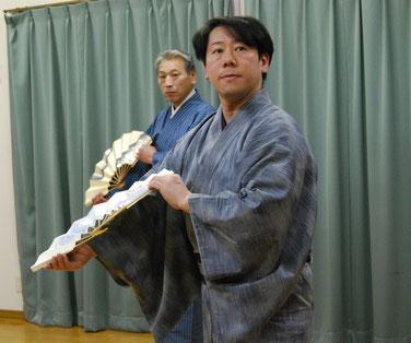 水木流東京水木会 師範 水木鶴升さん 千葉健吾さん