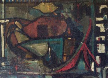 Serge Labégorre. Huile sur panneau vers 1950