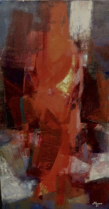 Claude Lasserre. Peinture à l'huile sur toile.