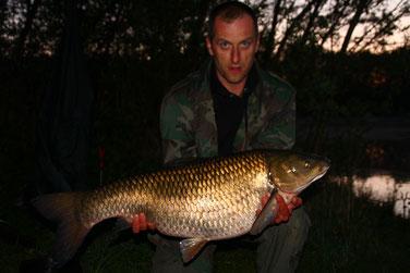 der Grasfisch aus 2007 5 Jahre später jetzt 97 cm 17,5 kg