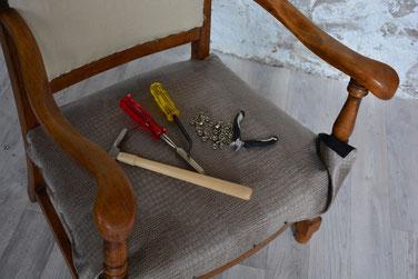 Tapissier - relooking meubles - restuaration fauteuil