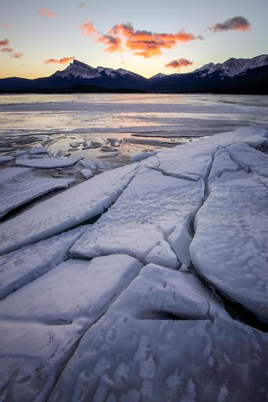 Frozen Abraham Lake, Canada @InAFaraway_Land