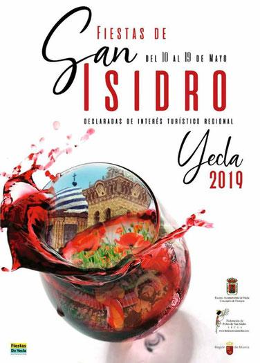 Fiestas de San Isidro en Yecla: cartel y programa