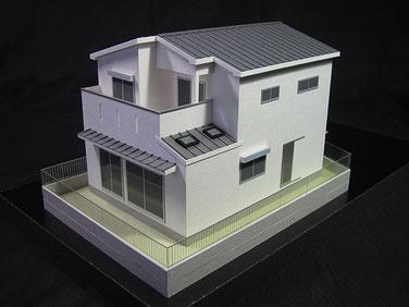 1/72色付外観型模型 外構付き(オプション)