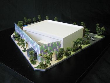 1/150建築模型 信用金庫店舗改築模型