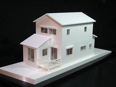 1/50白地分解模型 外構付き(オプション)