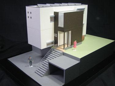 ボックスカルバートを備えた住宅模型