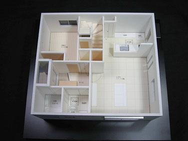 住宅模型の一階間取り