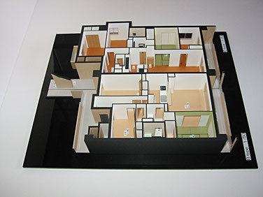 1/50マンション内観模型2タイプ