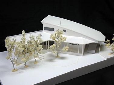 1/100白地外観模型 外構付き(オプション)