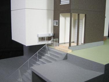 1/50スケール2階建ての住宅模型