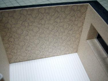内観模型の特徴的な壁紙