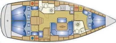 layout sailing yacht Bavaria 39 cruiser, 3 cabin yacht, yacht charter sukosan, yacht charter croatia, bareboat charter, yacht with skipper, rent yacht