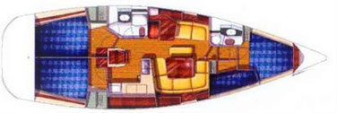 Segelyacht Sun Odyssey 43, Yachtcharter Sukosan, 4 Kabinen Segelyacht, Yachtcharter Kroatien, Yachtchartern