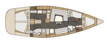 Elan 45 Impression, 4 Kabinen, Segelyacht, Yachtcharter, Nautic Adria Yachtcharter Kroatien, Yachtcharter Kroatien