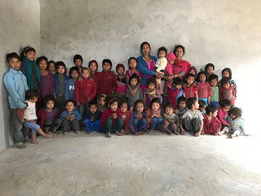 Schulkinder Bhumethans