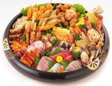 料理と刺身 (6~7人前) 10,800円