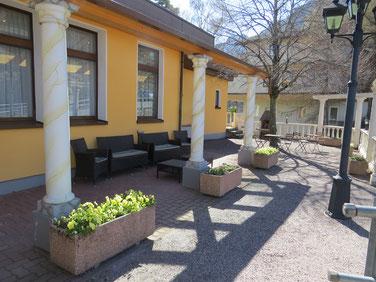 Restaurant Schloss Wartenstein, Pfäfers - Sitzgelegenheit Aussenbereich