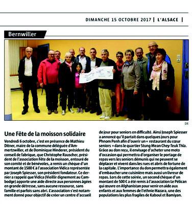 L'Alsace du 15 octobre 2017