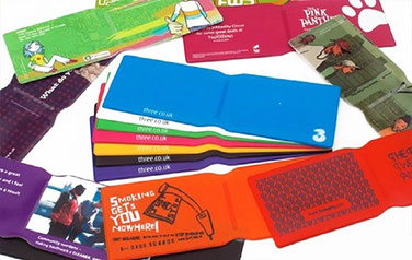 PVC oyster card wallets screen printed and litho printed