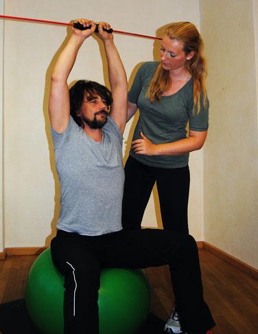 Physiotherapeutische Anleitungen in meiner Praxis in Bielefeld