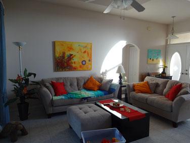Villa-Catch-The-Sun Wohnzimmer mit Blick auf Essecke