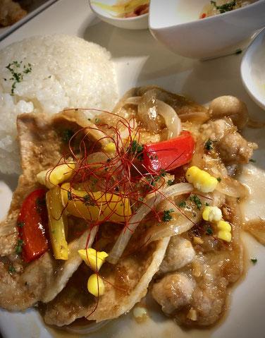 薄切り豚ロースのソテー(新生姜の甘辛ソース)&ライス(7月7日予定)