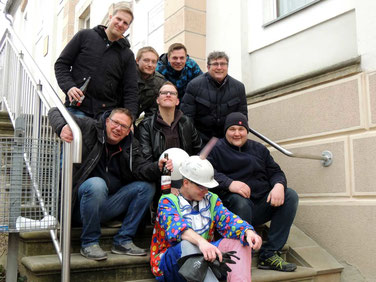 Die Lümmel des Kollegenkreises hatten kein Erbarmen....Jürgen Firus,  Ulf Sawallisch,  Steven Galau, Sebastian Bräuer, Helmut Wandt,   Stefan Winkler und naklar Patrick Kuhn