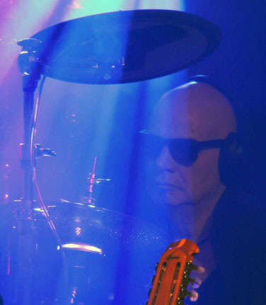 Klaus Selmke, nur selten konnte man ihn an seinem Schlagzeug erkennen, aber dafür unüberhörbar.