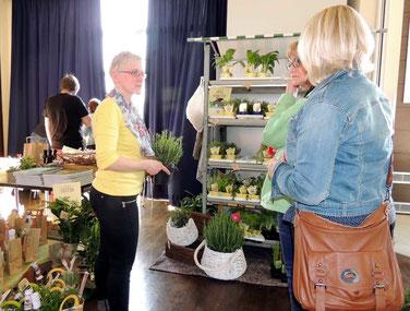 Kräuter für die Küche gab es bei Birgit Bethge von der Schloß-Floristik