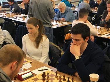 Niko und Melanie in der vierten Runde. Foto von der Turnierseite.