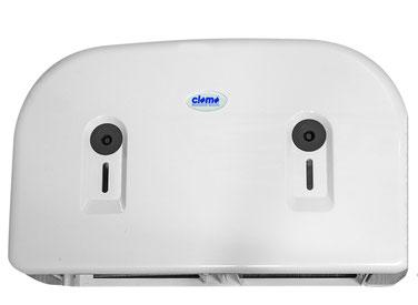 Toilettenpapierspender, Doppel, Midi, weiß