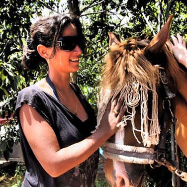 Mit Rumana - eine Patin unserer Pferde-Familien