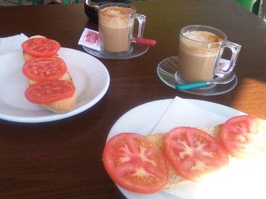 Tomatenbrot in Pou des Lleo