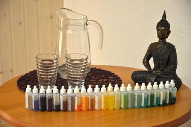 Aurasoma-Fläschchen mit Buddha