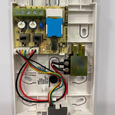 Detalle interior telefonillo VEO 4+N Universal