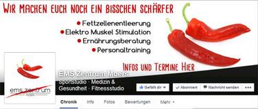 Neues Layout für EMS-Zentrum Moers Facebook Titelbild