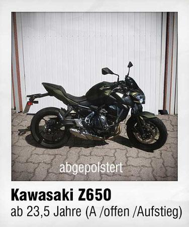 HONDA NC700 (Suzuki SV 650 (tiefergelegt & abgepolstert)