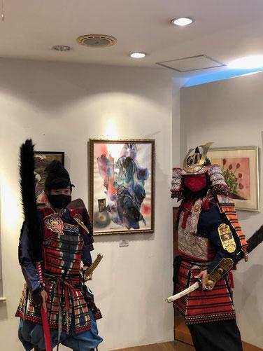 鎌倉武士とスリーショット