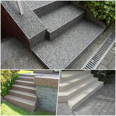 Treppenrenovierung mit Steinteppich aus Marmor