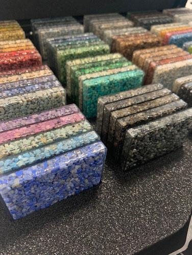 Steinteppich Muster im Schälchen