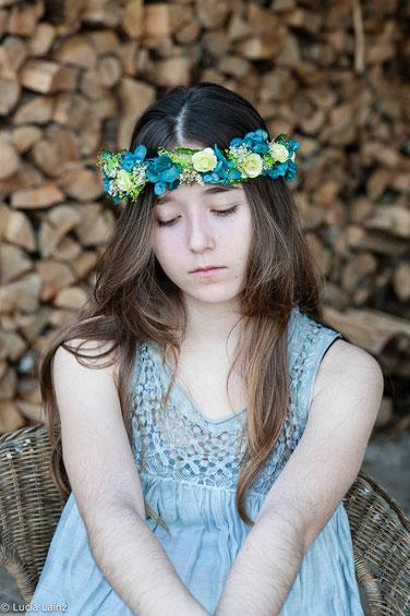 Tocado con flores-La Silvestre