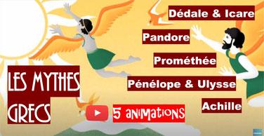 MYTHES GRECS: 5 animations