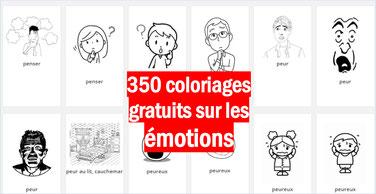 350 coloriage pour réfléchir sur les EMOTIONS