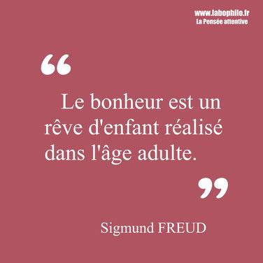 Sigmund Freud citation bonheur