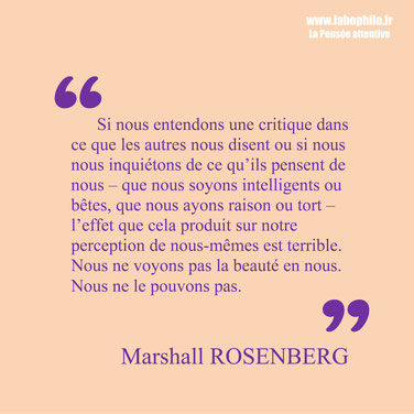 Marshall Rosenberg citation la beauté en nous